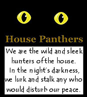 We are the wild and sleek hunters of the house. In the night's darkness, we lurk and stalk any who would disturb our peace.
